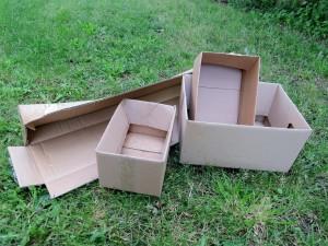 Des cartons de récupération