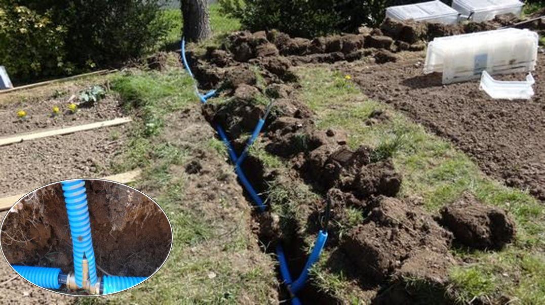 Reportage r alisation d 39 un syst me d 39 irrigation for Point d eau dans le jardin