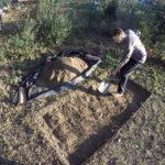 Décapage de la couche de terre végétale