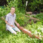 Le carré potager en permaculture début juin